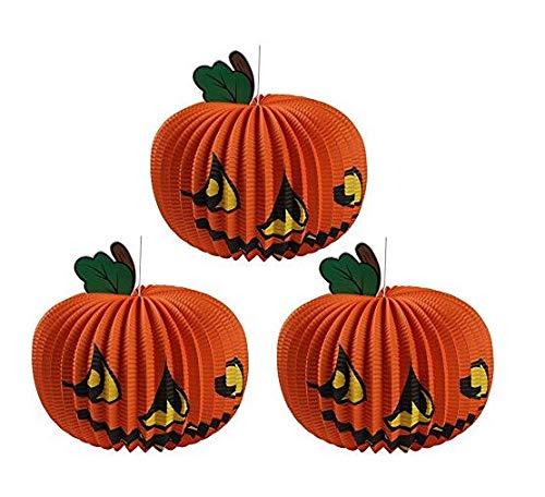 Huayer Tragbare Goodies-Taschen-Ideen-Party-Taschen Halloween Dekoration liefert Bar und Dancing Party Kürbis Laterne dekorative Requisiten (Farbe : Orange, Größe : L 37mW 37cmH 29)