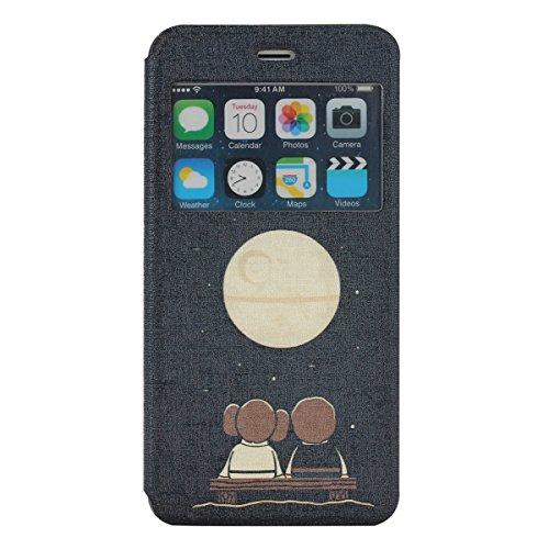 MOONCASE iPhone 6S Plus (5.5 inch) Étui, [l'éléphant] Pattern Coque en Cuir Housse de Protection Béquille Étui à rabat Case pour Apple iPhone 6 / 6S Plus (5.5 inch) DD02