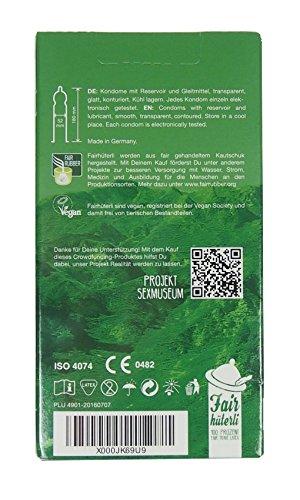 Fairhüterli - Naturliebhaber - 12 vegane Kondome made in Germany, aus Fair Trade Latex, extra sensitiv, einzeln elektronisch getestet (1 x 12 Stück) - 5