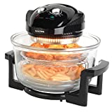 Salter EK1950/EK2811 Low Fat Air Fryer Triple Power Halogen Convection Infrared Cooker, 12 Litre