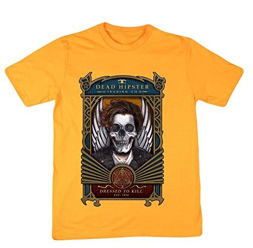Hippowarehouse Herren T-Shirt, Gelb, 50007-DTG-UT-YXXL
