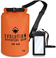 Evolution Floating Waterproof Dry Bag - Professional Adventure Gear - Roll Top Compression Sack for Kayaking,