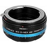 Vizelex ND Throttle de Fotodiox Pro Adaptateur de monture d'objectif avec Variable Filtre ND -ND2-ND1000  - pour Objectif Nikon G -D type  à Caméra Sony E mount comme Sony Alpha a7/ a7II/ NEX-5/ NEX-7