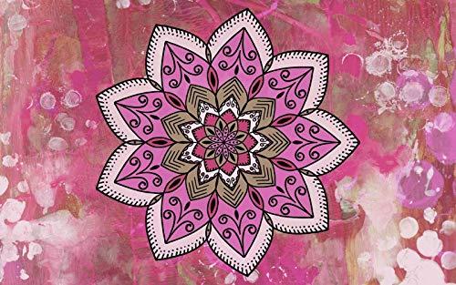 Rompecabezas 1500 Piezas Adultos De Madera Niño Puzzle-Mandala Rosa-Juego Casual De Arte Diy Juguetes Regalo Interesantes Amigo Familiar Adecuado