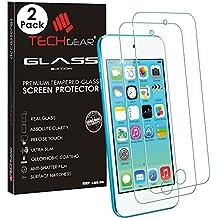 Set de 2protectores de pantalla Techgear® Glass Edition de cristal templado para Apple iPod Touch 6y iPod Touch 5
