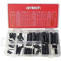 Am-Tech 120 piezas Surtido rollo de insignias, S6270