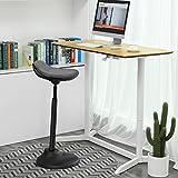 SONGMICSSitz-Steh-Hocker,ergonomischeStehhilfe,Bürohocker,Sitzhöhe:63-88cm,mitAnti-Rutsch-Bodenring,fürStehpult,OSC02GY - 2