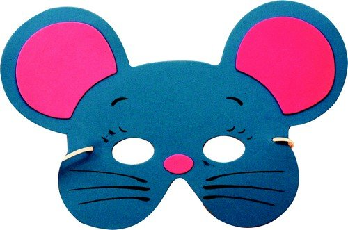 Party Pro 871189Kind Maske Maus Eva, Mehrfarbig