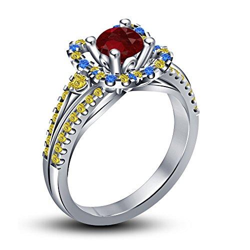 Vorra Fashion Damen -  925 Sterling-Silber  Sterling-Silber 925     Verschiedene Edelsteine  (Belle-schmuck Princess Disney)