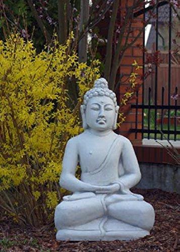 Buddha sitzend (S101152) Gartenfigur Skulptur Statue Steinguss Betonguss 85 cm