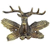 Antique Bronze Deer Antler Wall Hook