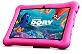 Kids 7' Inch Quad Core Android Tablet PC - Android Kitkat - Octa Core GPU - Bluetooth - 8GB HDD - 1280*800 IPS Screen , WIFI, USB, DUAL CAMERA - Google Play - UK Warranty - Kids Extra Protection Silicon Standing Case - ANOC (Pink)