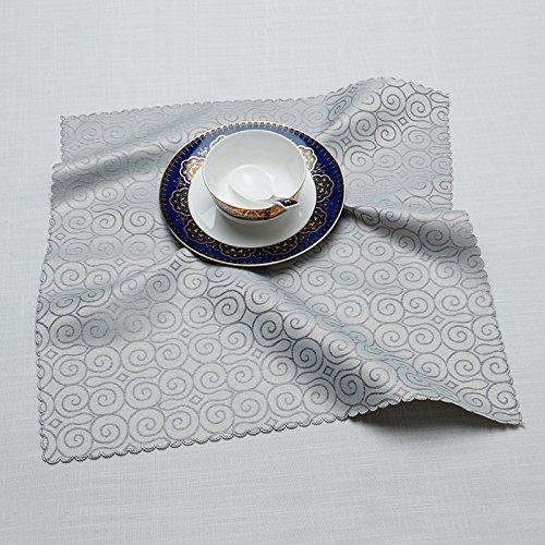 ZHFC de bon augure nuages multicolor tissu tissu mat tableau hôtel restaurant pad 45 * 45 cm 1 bloc tissu isolant.,Gris,45 × 45 cm