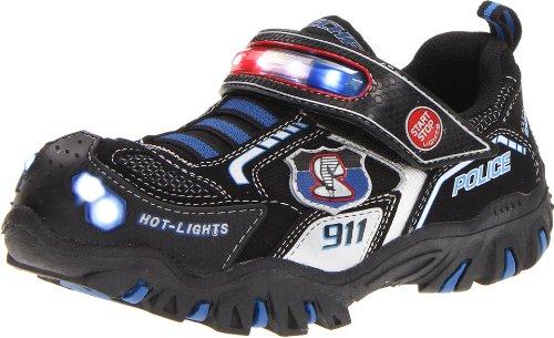 Skechers DamagerPolice II Jungen Sneakers Schwarz (Bkry) A2kfxcZ