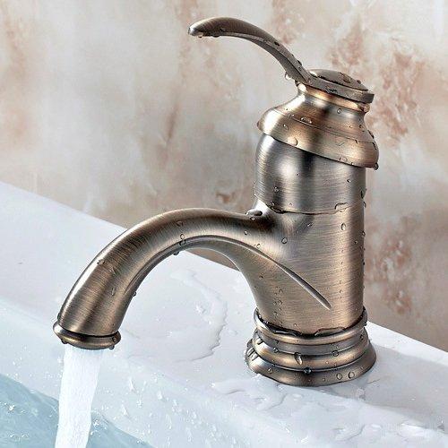 Pumpink Mini rubinetto caldo e freddo europeo Fine Copper Casting Vintage Miscelatore per lavabo rubinetto antico tedesco spazzolato Spray ottone