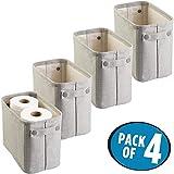 mDesign 4er-Set Zeitungskorb fürs Bad – stilvolle Toilettenpapier Aufbewahrung aus