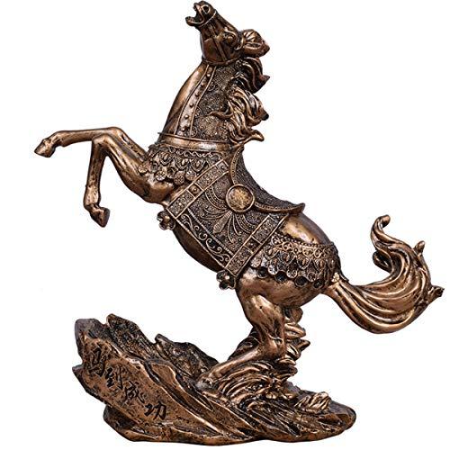 DABENXIOING Weinflaschenhalter, Bronze, Pferdeform, dekoratives Weinregal, Antik-Display, Heimdekoration - Polyresin Bronze-finish
