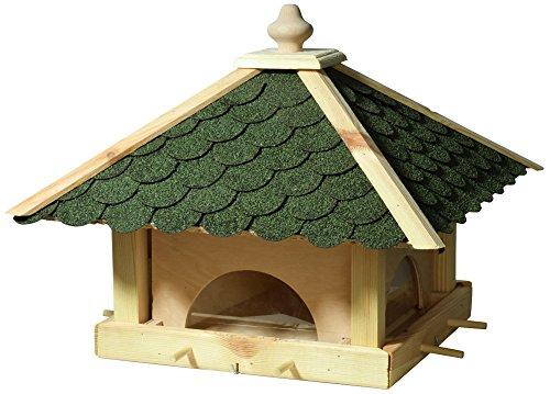 Luxus-Vogelhaus 98700e Großes XXL Vogelhaus aus Holz (Kiefer) für Garten, Balkon, mit 4 herausziehbaren Futterschubladen – XL Vogelhäuschen Vogelfutterhaus - 2