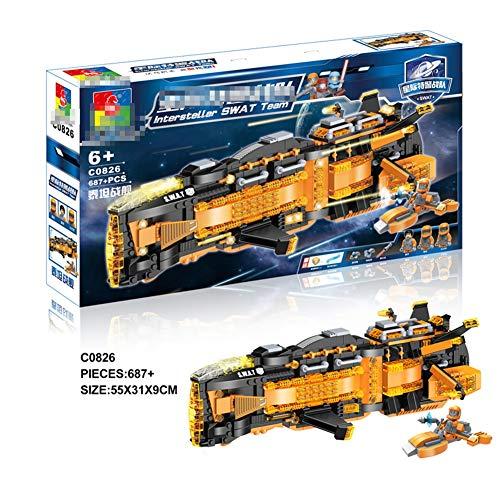 HLDX 687+ Technologie-Serie Titan Riesenschiff Cosmic Hegemon Das Universum Star Wars Aufrechterhaltung des Friedens Jungen und Mädchen