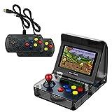 TEEPAO Mini Arcade Game, 4.3' Retro Arcade Console Jeux Vidéo de Poche Classiques Accueil Voyage Machines D'arcade avec 2 Contrôleurs - Construisez en 3000 Jeux Classiques pour Enfants Adultes