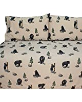 The Bears Sheet Set Size: Queen by Blue Ridge Home Fashion