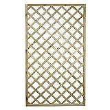 Traliccio rectangular madera Material tratado Muebles Jardín 90x 180cm 00237lb