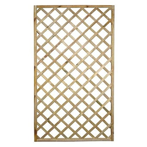 Traliccio rettangolare legno materiale trattato arredo giardino 90x180cm 00237LB
