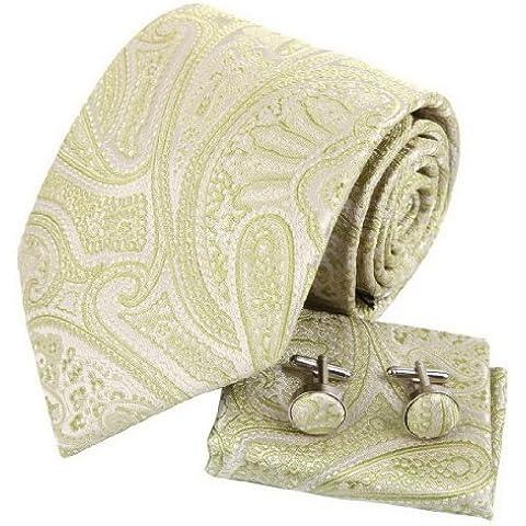YAC2B03 Varios de Patr¨®n Colores del regalo de cumplea?os corbata de seda pa?uelo 3PT por Y&G