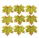 100Künstliche Herbst Fall Ahorn Blätter Herbst Farben–Tolles Herbst Tisch Scatter für Fall Hochzeiten & Autumn Parteien grün