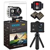 EKEN H9R Wifi 4k Action Camera Sport Impermeabile con 2 batteria + Charging dock + bastone selfie (Black) - EKEN - amazon.it