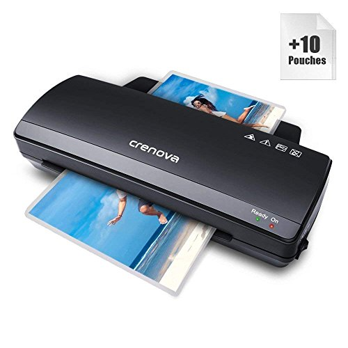 Crenova LT01 Laminator, 2018 Upgraded, 250mm/min Speed, 230mm Max. Width(A4 SIZE), Includes 10 Laminating Pouches Test