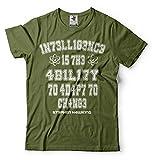 Silk Road Tees Stephen Hawking Inteligencia Camiseta Ciencia Camiseta de los Hombres Camiseta Profesor Hawking XX-Large Verde Militar