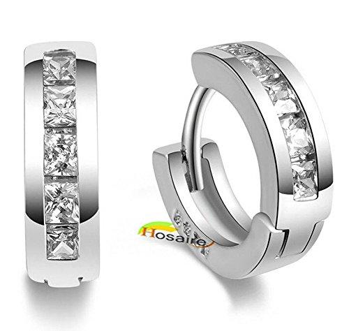 Hosaire Ohrringe Mode Runde Diamant Anhänger Damen Ohrring für Geburtstag Geschenk Ohrhänger