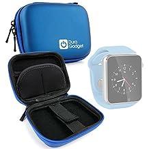 DURAGADGET Estuche Rígido Para Reloj AGPtek A1 | LaTEC | Pebble Classic | Time Round | Posma W1 | Pushman 1 | Zolimx U80 - Azul