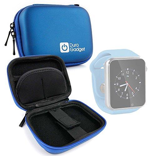 DURAGADGET Estuche Rígido para Reloj YuanGuo® | Smarter® | Smartlife YG8 | Stoga ST-DM360 | Turnmeon | Viwel | VOSMEP - Azul