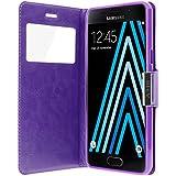 Avizar - Housse Etui Clapet Fenêtre Samsung Galaxy A3 2016 - Violet