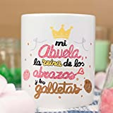 """La mente es Maravillosa - Taza """"Mi abuela la reina de los abrazos y las galletas"""""""