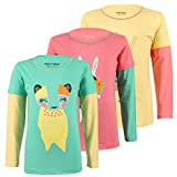 #6: Minnow Girls Full sleeve Printed Cotton Tshirt Tops(4-13 Years,Pack Of 3)