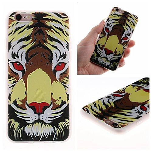 iPhone 6 Hülle, Voguecase Silikon Schutzhülle / Case / Cover / Hülle / TPU Gel Skin für Apple iPhone 6/6S 4.7(Lace Teppich 06) + Gratis Universal Eingabestift Roter Augen Tiger