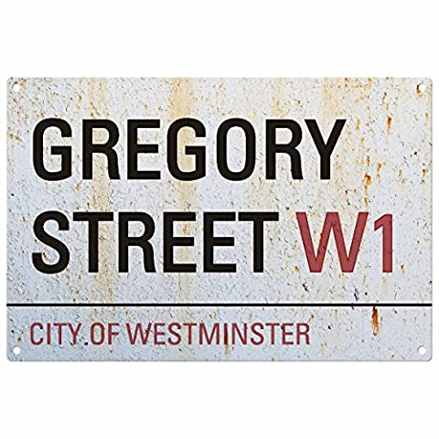 Personalised Surname London Road Sign: GREGORY STREET