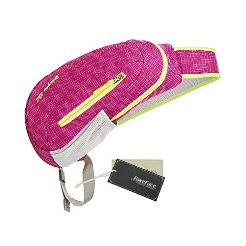 FakeFace Neu Rucksack Umhängetasche Brusttasche Schultasche Tragetasche Brustbeutel Sport Tasche Multifunktionrucksack für Outdoor rose