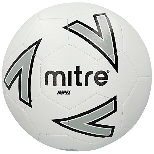 Mitre Impel Trainingsfußball, White/Silver/Black, 5