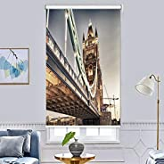 3D Printing Roller Blind Blackout Curtains - Room Decor Insulated Room Darkening Curtains, Printed Pattern Des