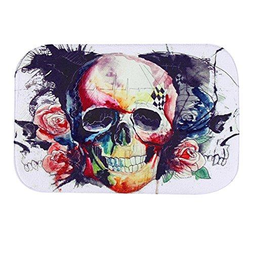 Aipark Badematte, Korallenvlies, Multicolor Skull 18 Badezimmer-teppiche-sets, Tan