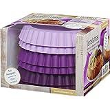 RBV Birkmann 254107 Tartelette 6 Moules Silicone Violet 12 x 12 x 8,5 cm