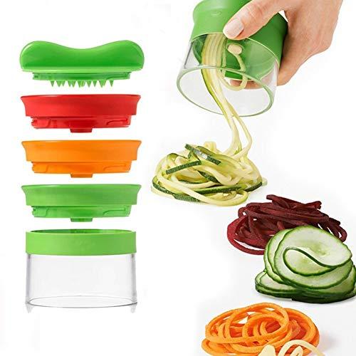 Spiralizer legume - Coupe legumes spaghetti spirale de légumes, Trancheuse Végétale Eplucheur...