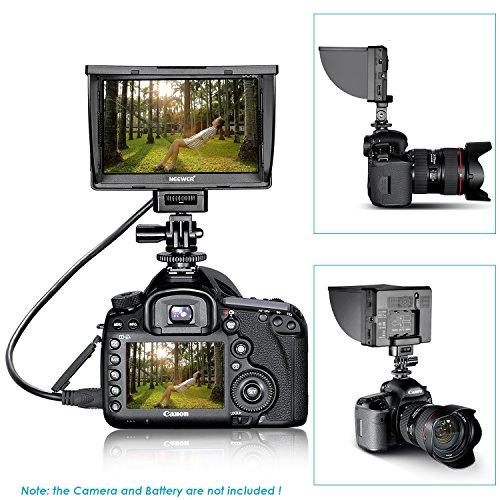 Neewer DC-50 HD Clip-on 12,7 cm (5 Zoll) LCD-Monitor Tragbare Weitsicht für Canon/Nikon/Sony