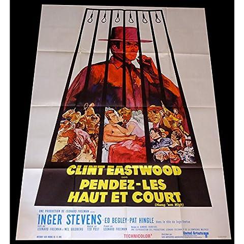 PENDEZ le alto e corto, motivo: manifesto del film 120 x 160-1968-Clint Eastwood, ted Post