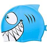 Cuffia da nuoto, Tintec Kids silicone Swimminng cappello per bambini a forma di animale pesce nuoto