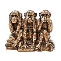 The Leonardo Collection LP27929A Wise Monkeys Ornament, Bronze